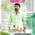 Outside Kerala - Theater List